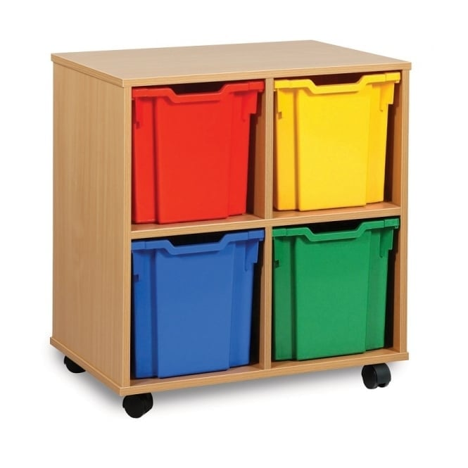 Mobile 4 Jumbo Tray Storage Unit