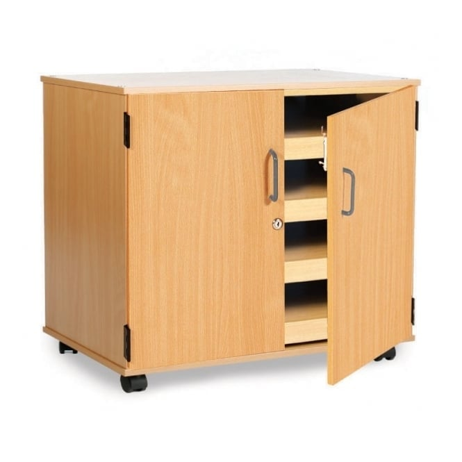 Mobile 4 Sliding Drawer Paper Storage Unit