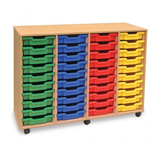 Mobile 40 Shallow Tray Storage Unit