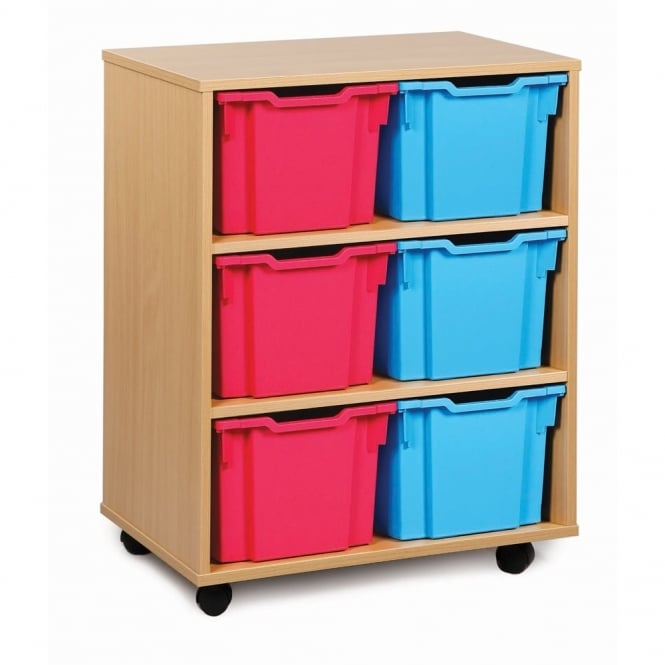 Mobile 6 Extra Deep Tray Storage Unit