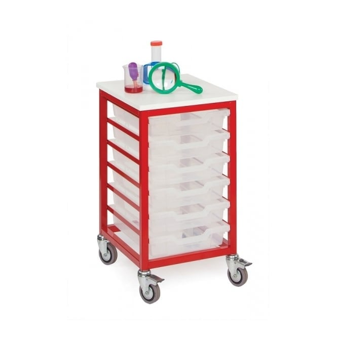 Mobile 6 Shallow Tray Metal Storage Unit