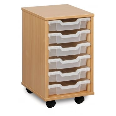 Mobile 6 Shallow Tray Storage Unit