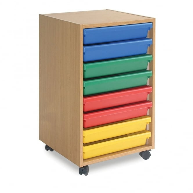 Mobile 8 Tray Paper Storage Unit