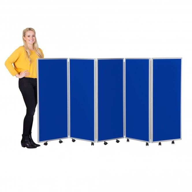 Mobile Concertina Screens 1200mm high Nyloop Fabric
