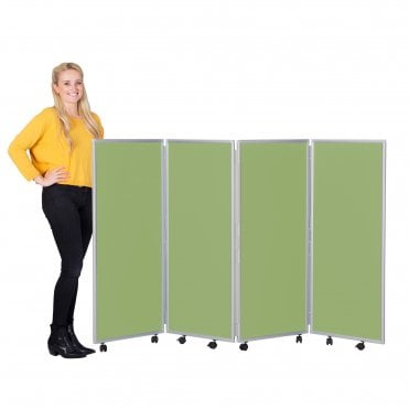 Mobile Concertina Screens 1200mm high Wipeable Fabric
