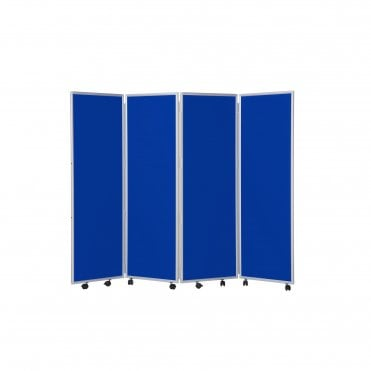 Mobile Concertina Screens 1500mm high Nyloop Fabric