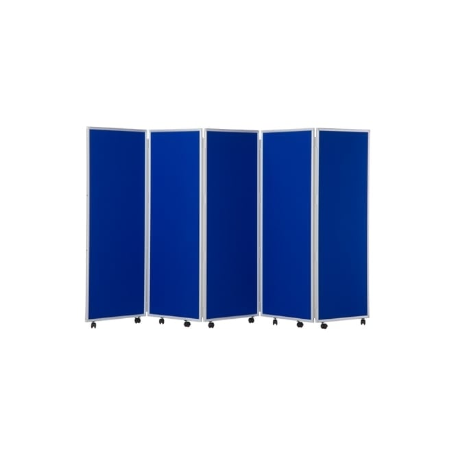 Mobile Concertina Screens 1500mm high Woolmix Fabric
