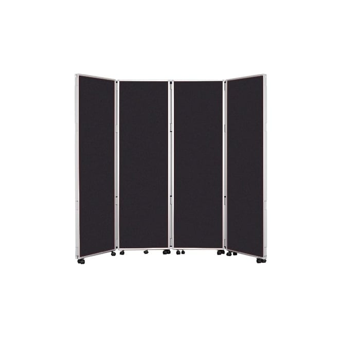 Mobile Concertina Screens 1800mm high Nyloop Fabric