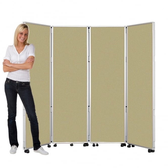 Mobile Concertina Screens 1800mm high Wipeable Fabric