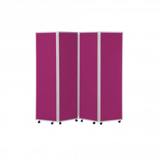 Mobile Concertina Screens 1800mm high Woolmix Fabric