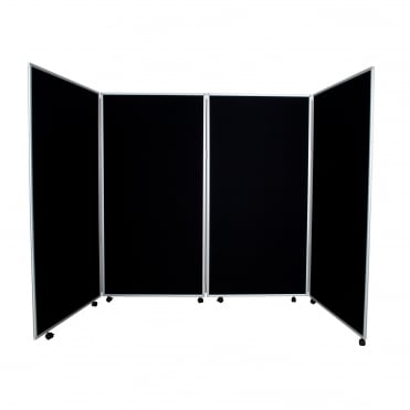 Mobile Economy Display Screens Black, 4 Panel