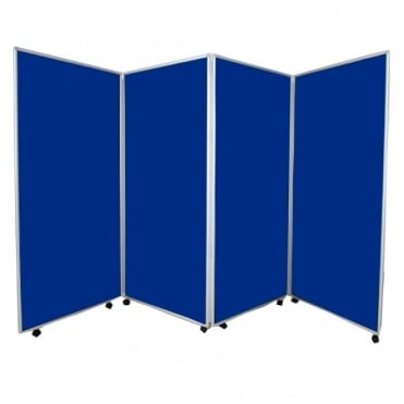 Mobile Economy Display Screens, Blue, 4 Panel