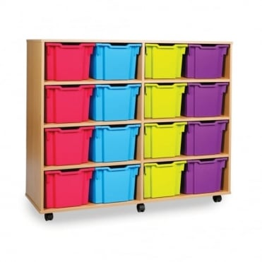 Mobile Storage Unit with 16 Extra Deep Trays