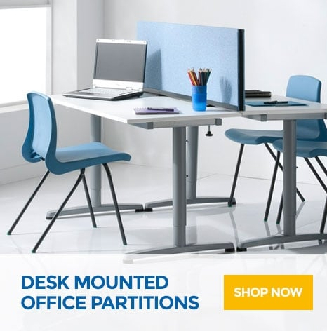 Desk Mounted Office Partitions