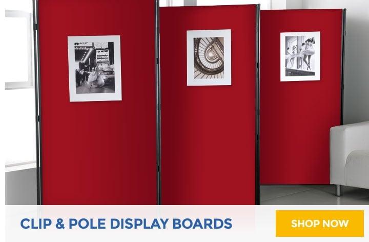 Clip & Pole Display Boards