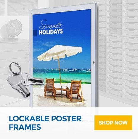 Lockable Poster Frames
