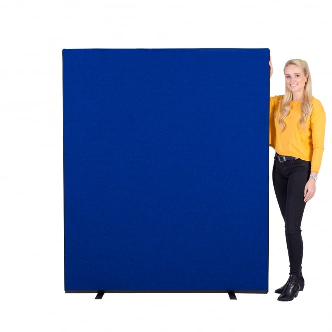 Next Day Delivery Office Screens Size: 1500mm w x 1800mm h Colour: Blue