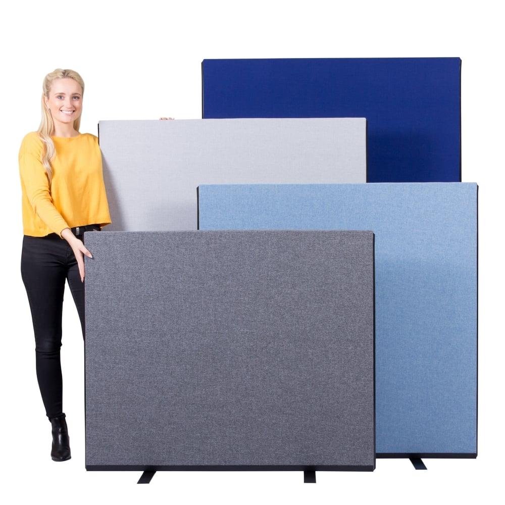 Gentil Office Screens 1200mm Wide Woolmix Fabric