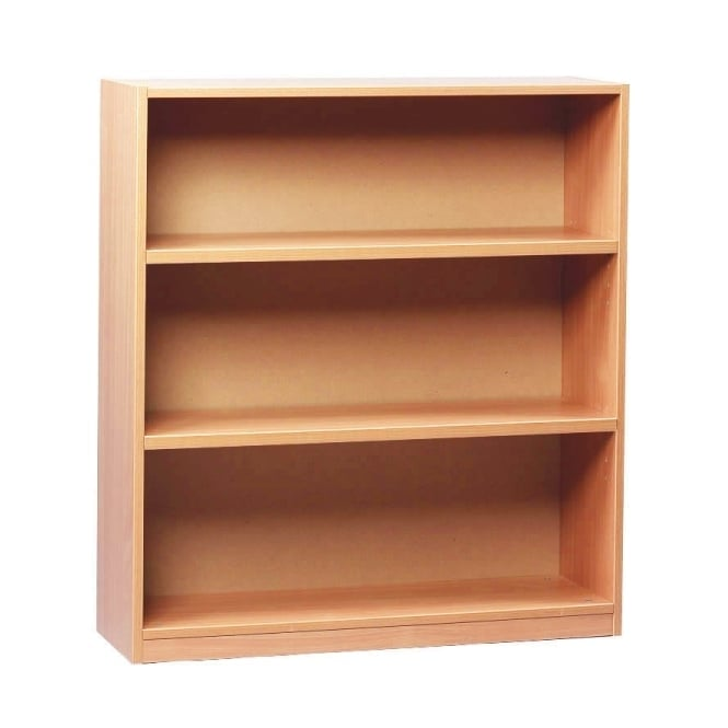 Open Bookcase 1 fixed and 2 Adjustable Shelves 1000mm H