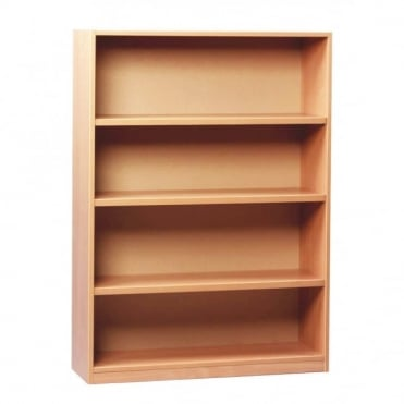 Open Bookcase with 1 Fixed and 2 Adjustable Shelves 1250mm H