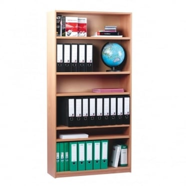 Open Bookcase with 1 Fixed and 4 Adjustable Shelves 1800mm H