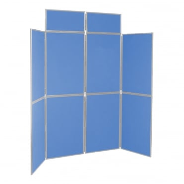 Portable Folding Display Boards, Blueberry 8 Panel From Panel Warehouse