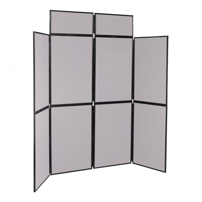 Portable Folding Display Boards, Grey 8 Panel From Panel Warehouse
