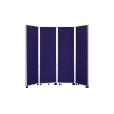 Mobile Folding Room Divider 1800mm high Nyloop Fabric