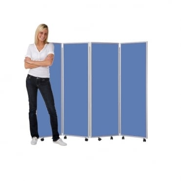 Mobile Folding Room Dividers 1500mm high Wipeable Fabric