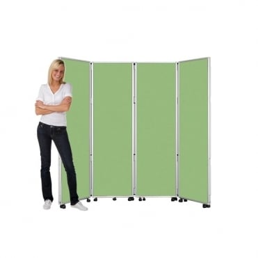 Mobile Folding Room Dividers 1800mm high Wipeable Fabric