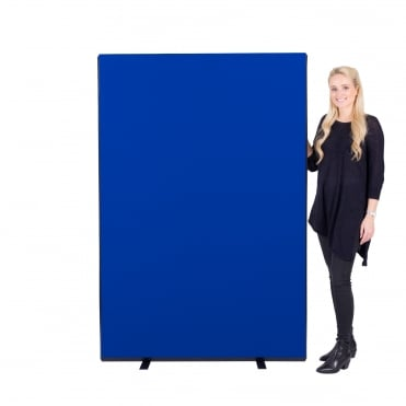 Economy Office Screen 1200mm w x 1800mm h Nyloop Fabric