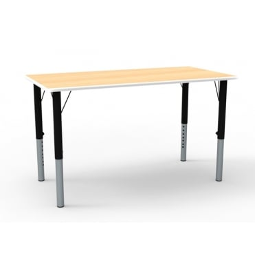 Rectangular Height Adjustable Classroom Table (1100mm w)
