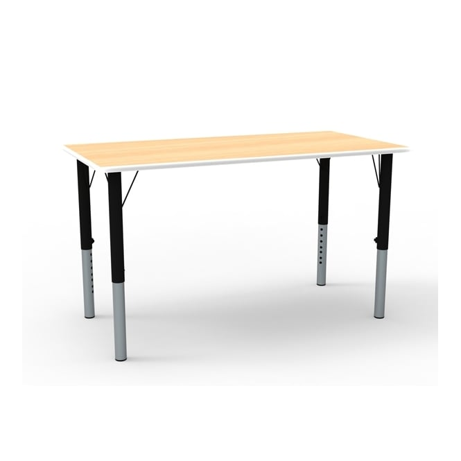 Rectangular Height Adjustable Classroom Table (1200mm w)