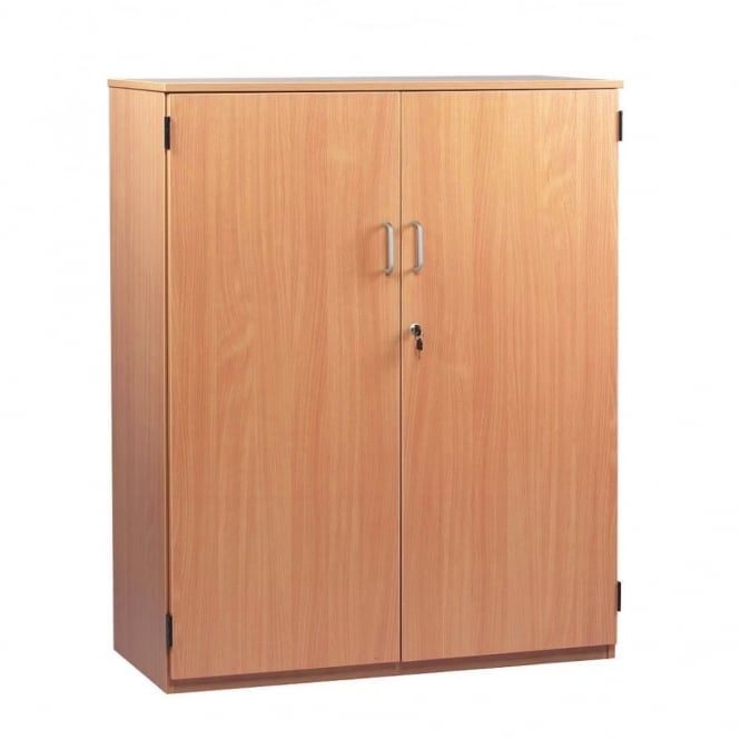 School Stock Cupboard with 1 fixed and 2 Adjustable Shelves H 1268mm