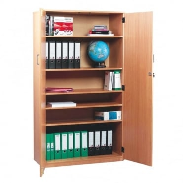 School Stock Cupboard with 1 fixed and 2 Adjustable Shelves H 1818 mm