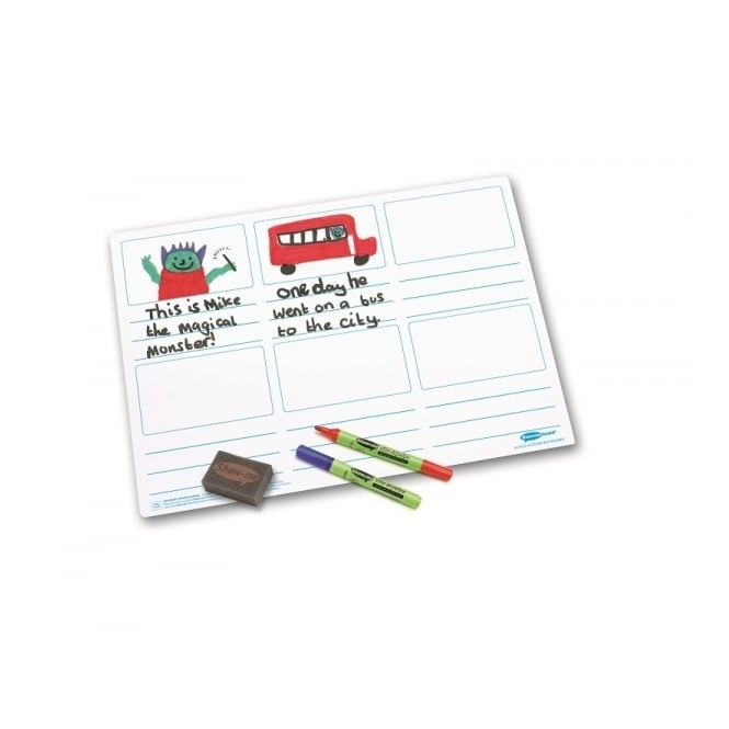 Show-me® Tell-a-Story A3 Drywipe Boards Pack of 5