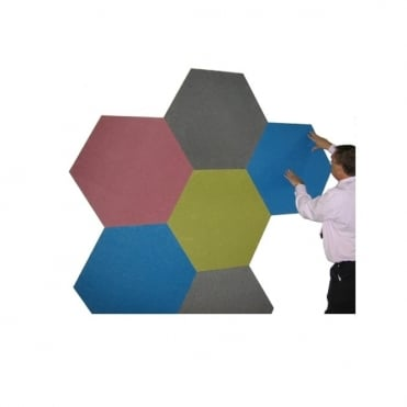 Sundeala Hexagon Shape Notice Board