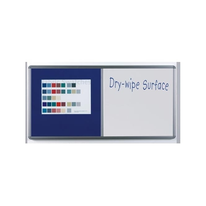 Twin Surface Notice Board / Dry Wipe Board