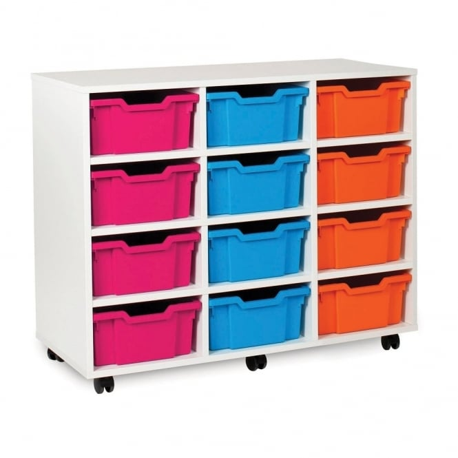White Range 12 deep Tray Storage Unit