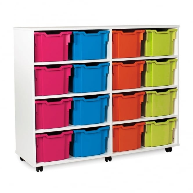 White Range 16 Deep Tray Storage Unit